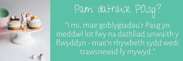 Pam dathlu'r Pasg